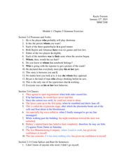 Chapter 2 Grammar Exercises
