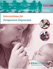 Interventions for Postpartum Depression