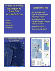What Eruptions and Earthquakes Do - Boundary Hazards Lecture
