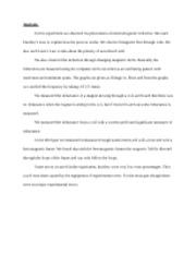 Analysis (E6)