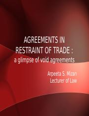 agreements in restraint