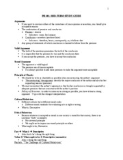 PH 101 Mid-term Study Guide