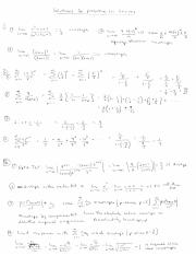Tests to determine convergence or divergence for infinite