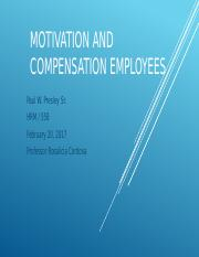 Motivation and Compensation Employees  Presentation.pptx