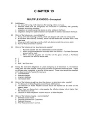 Chapter 13 Concept Questions with Answers
