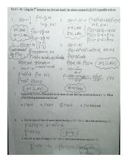 04 The 2nd Derivative test WS key
