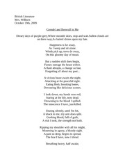 British Literature Grendel and Beowulf Poem Assignment