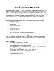 Christianity Paper Guidelines - Online.docx