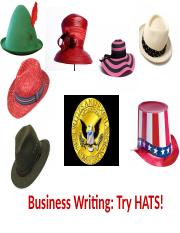 HATS how to format a document