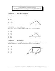 13b Applications of Trigonometry (Modified)