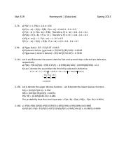 STAT 319_HW Solution_ #1_CH. #2