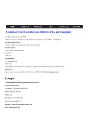 MVSC Accounting - Common Cost Calculations (followed by an Example)