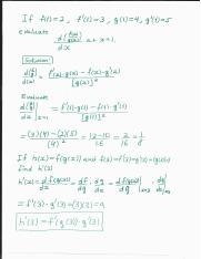 Evaluate derivative at x =  1 using quotient rule.pdf