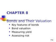 Lecture 4 - Bonds and their valuation NR