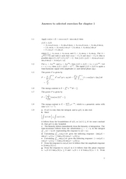[Solutions Manual] Fourier and Laplace Transform - Antwoorden