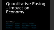 Quantitative Easing – Impact on Economy