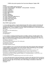 Neuro Practice Questions 2