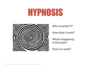 Section Week 10 Hypnosis & Paper 3