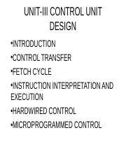 hardwired control and microprogrammed control