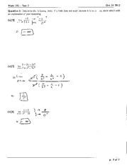 Math 191 Test 2 Solutions