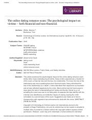 The online dating romance scam_ The psychological impact on victims.pdf