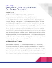 Case Study #3 Enforcing Contracts and NCA.docx