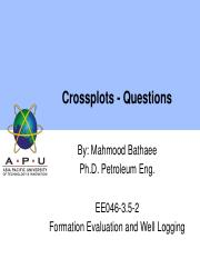 141 Crossplots - Questions