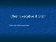 Chief Executive & Staff