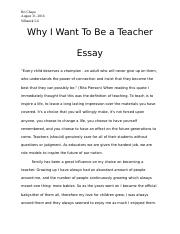 Why I Want To Be A Teacher Essay  Bri Chapa Silhanek  Why I Want  Why I Want To Be A Teacher Essay  Bri Chapa Silhanek  Why I Want To Be  A Teacher Essayevery Child Deserves A Champion An Adult Who Will Never Give English Class Essay also Family Business Essay Essay About Paper