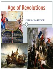 AP Euro Age of Revolutions