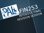 S2-2014 AFIN253 Final Exam Revision  PPT