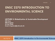 ENSC2270 Lecture 2 Sustainable Development 2015