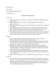 Frankenstein Study Guide