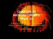 NUTRITION-MICRONUTRIENTS-CHAP 25-WK 11