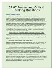 04.07 Review and Critical Thinking Questions