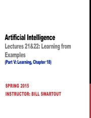 AI Spring 2015 Lecture 21