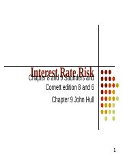 Interest rate risk_students