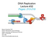 Lecture 32 DNA Replication