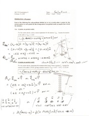 Exam 1 Sample Solutions