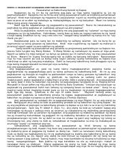 Modyul 10 Esp Grade 10 Summary