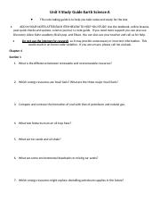 Unit 4 Study Guide Earth Science A.docx
