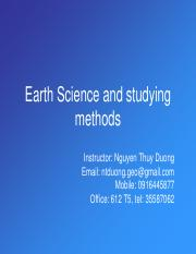 Topic 1-What is earth science
