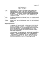 Case Brief- James v. U.S. .docx