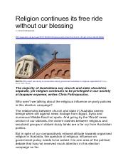 Article 1 - Religion continues its free ride without our blessing.pdf