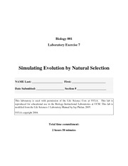 LAB 7 Natural selection
