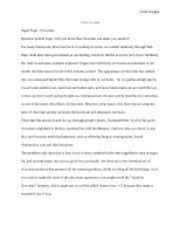Chocolate Informative Essay (Chidi) - Chidi Iroegbu Choc-co-late ...