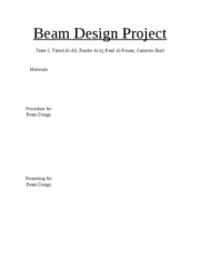 Beam Design Project