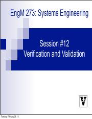 Lecture #12 Verification & Validation.pdf