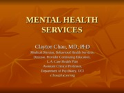 MENTAL HEALTH SERVICES.ppt