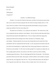Anthropology_ Schindler's List Reflection Paper.pdf